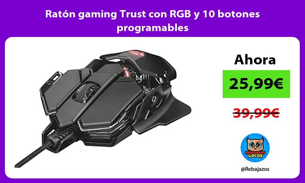 Raton gaming Trust con RGB y 10 botones programables