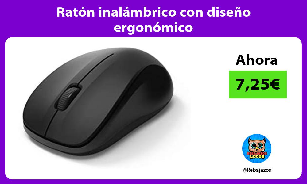 Raton inalambrico con diseno ergonomico