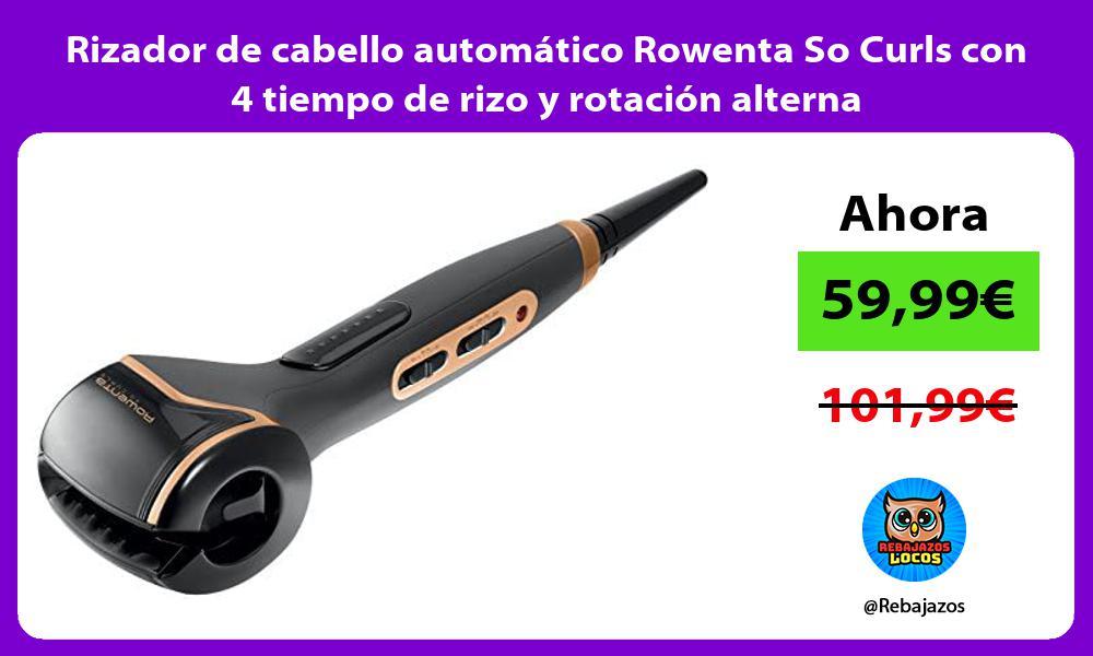 Rizador de cabello automatico Rowenta So Curls con 4 tiempo de rizo y rotacion alterna