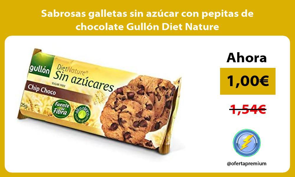 Sabrosas galletas sin azucar con pepitas de chocolate Gullon Diet Nature