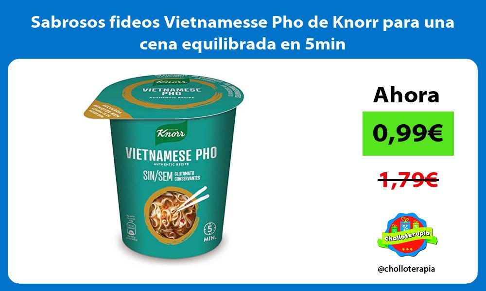 Sabrosos fideos Vietnamesse Pho de Knorr para una cena equilibrada en 5min