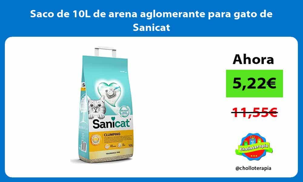 Saco de 10L de arena aglomerante para gato de Sanicat