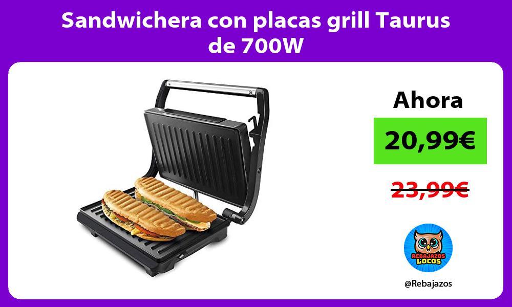 Sandwichera con placas grill Taurus de 700W