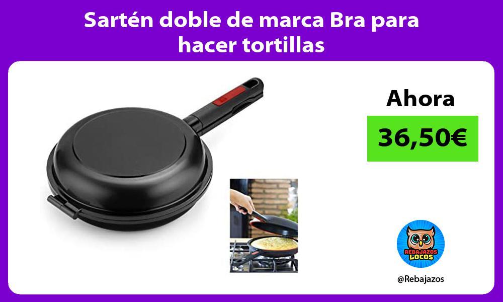 Sarten doble de marca Bra para hacer tortillas