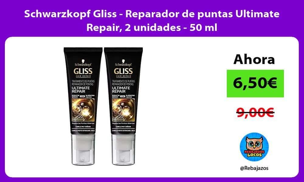 Schwarzkopf Gliss Reparador de puntas Ultimate Repair 2 unidades 50 ml