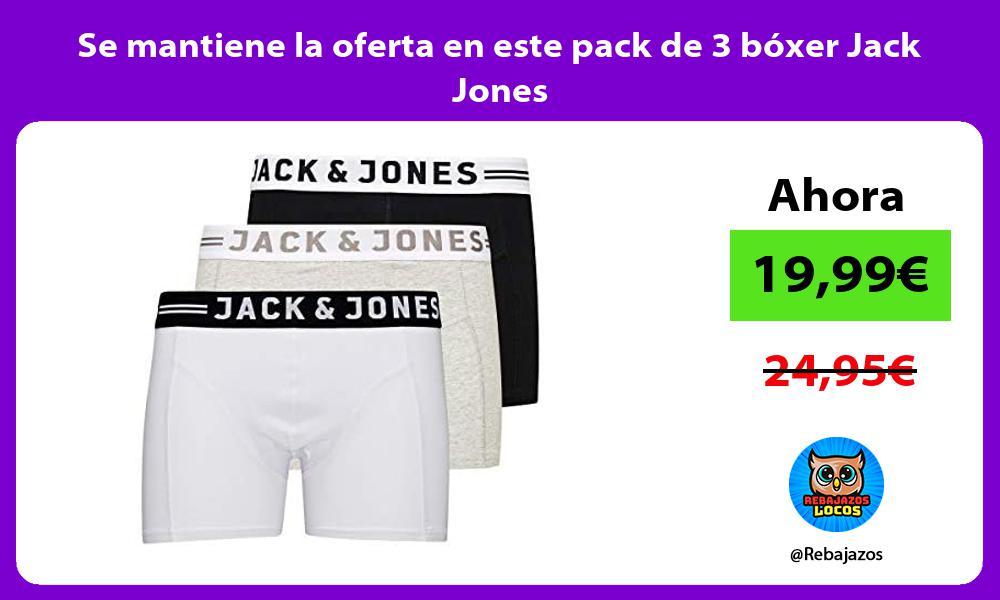 Se mantiene la oferta en este pack de 3 boxer Jack Jones
