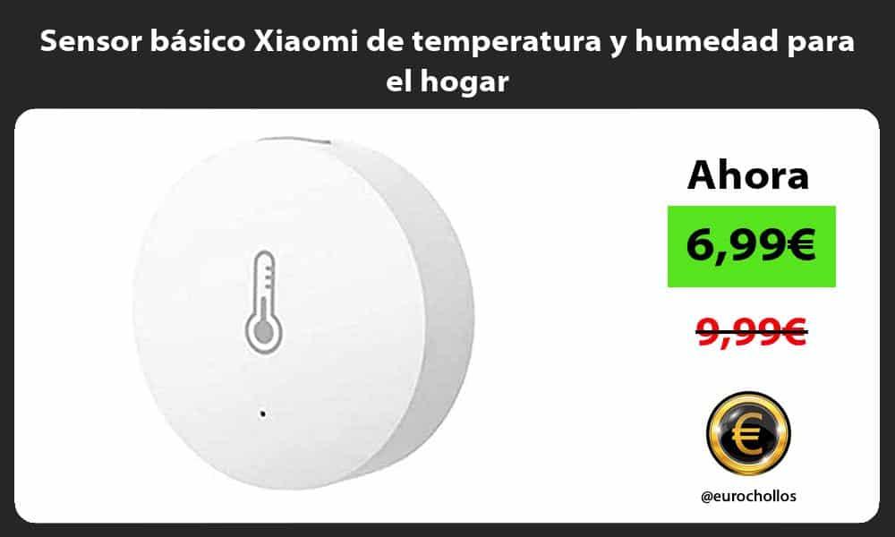 Sensor basico Xiaomi de temperatura y humedad para el hogar