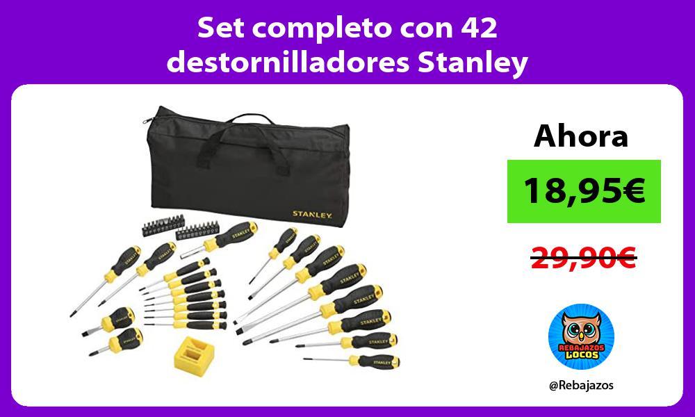Set completo con 42 destornilladores Stanley
