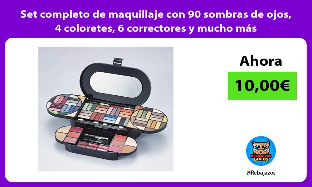 Set completo de maquillaje con 90 sombras de ojos 4 coloretes 6 correctores y mucho mas