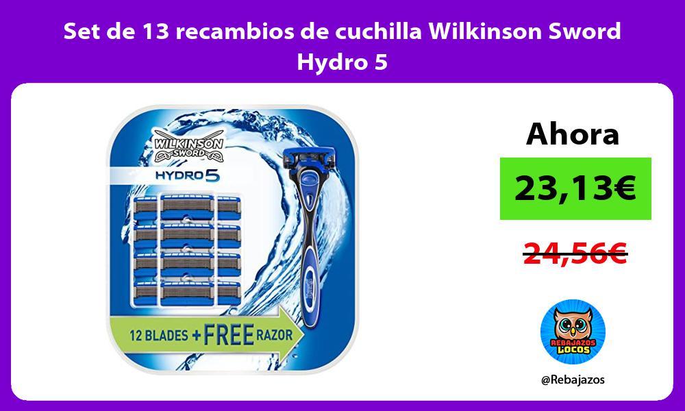 Set de 13 recambios de cuchilla Wilkinson Sword Hydro 5