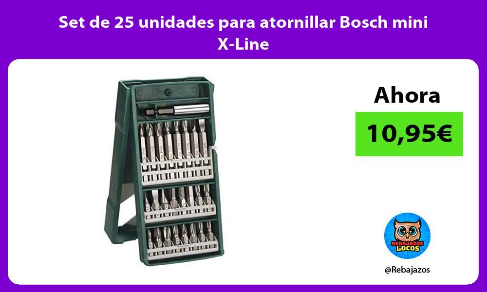 Set de 25 unidades para atornillar Bosch mini X Line