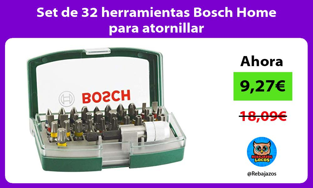 Set de 32 herramientas Bosch Home para atornillar