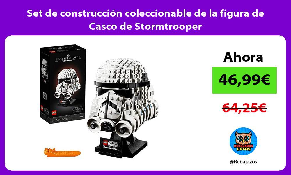 Set de construccion coleccionable de la figura de Casco de Stormtrooper