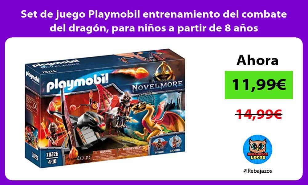 Set de juego Playmobil entrenamiento del combate del dragon para ninos a partir de 8 anos
