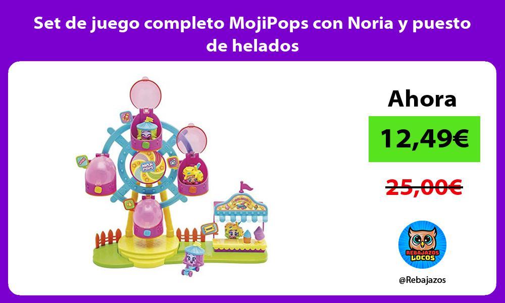 Set de juego completo MojiPops con Noria y puesto de helados