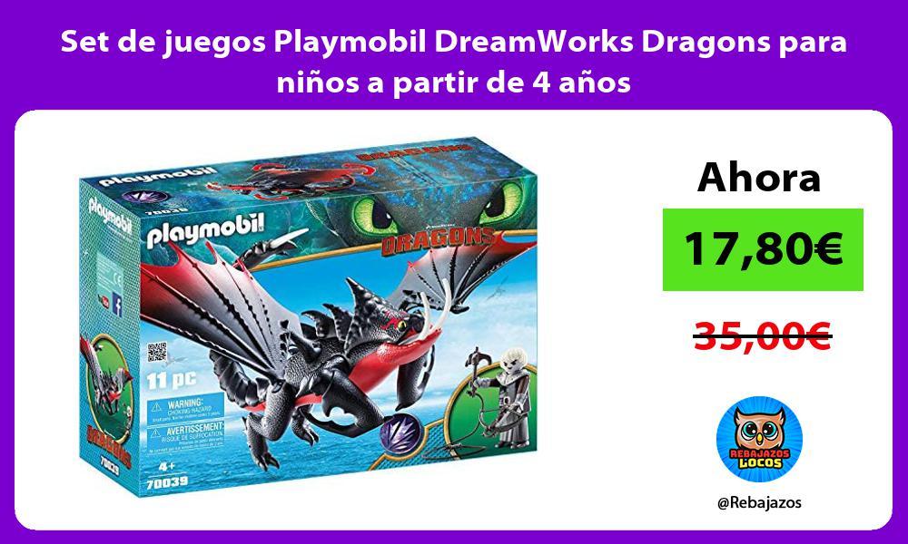 Set de juegos Playmobil DreamWorks Dragons para ninos a partir de 4 anos