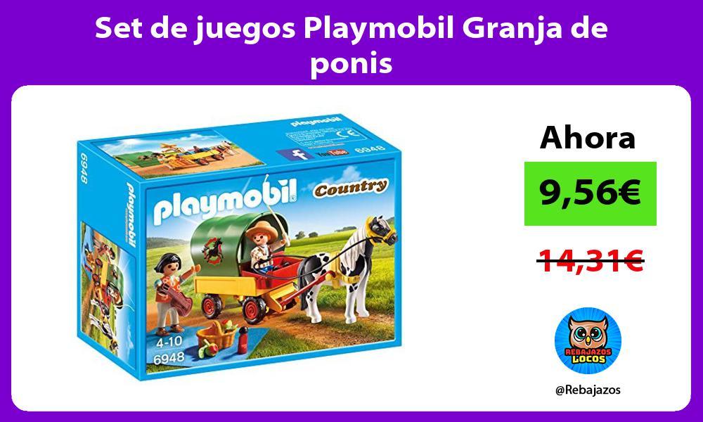 Set de juegos Playmobil Granja de ponis