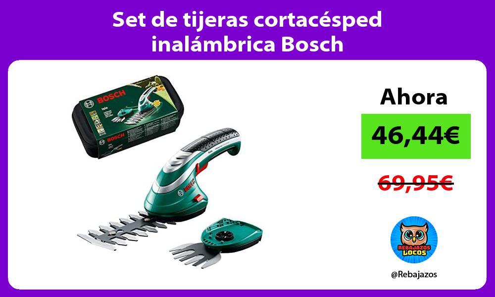 Set de tijeras cortacesped inalambrica Bosch