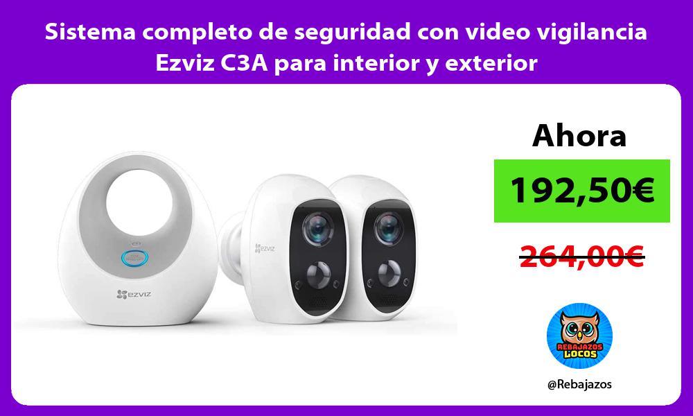Sistema completo de seguridad con video vigilancia Ezviz C3A para interior y exterior