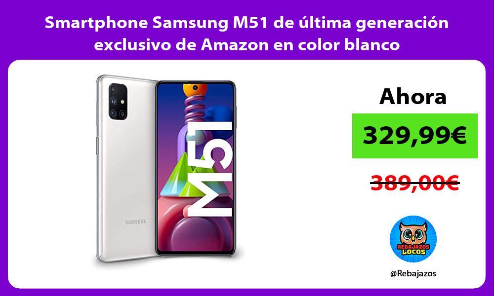 Smartphone Samsung M51 de ultima generacion exclusivo de Amazon en color blanco