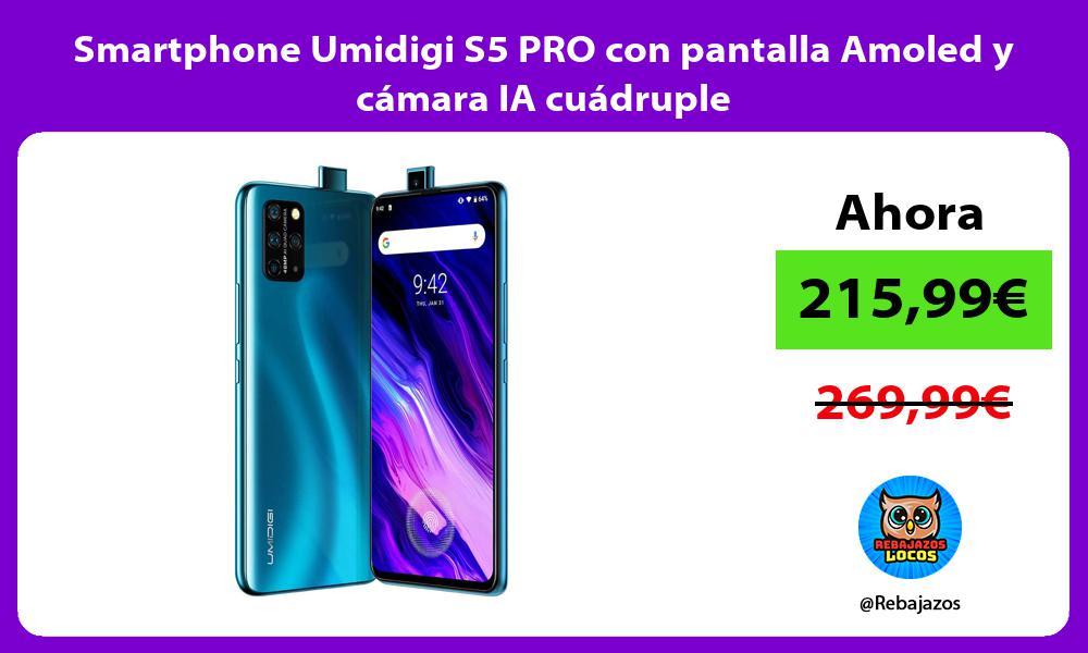 Smartphone Umidigi S5 PRO con pantalla Amoled y camara IA cuadruple