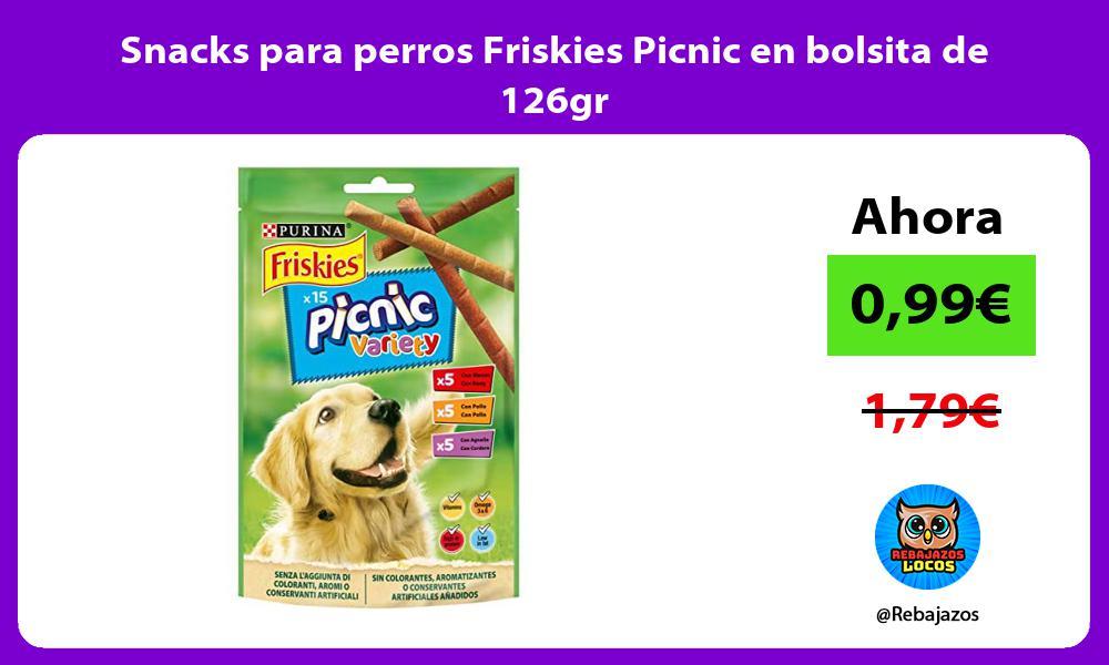 Snacks para perros Friskies Picnic en bolsita de 126gr