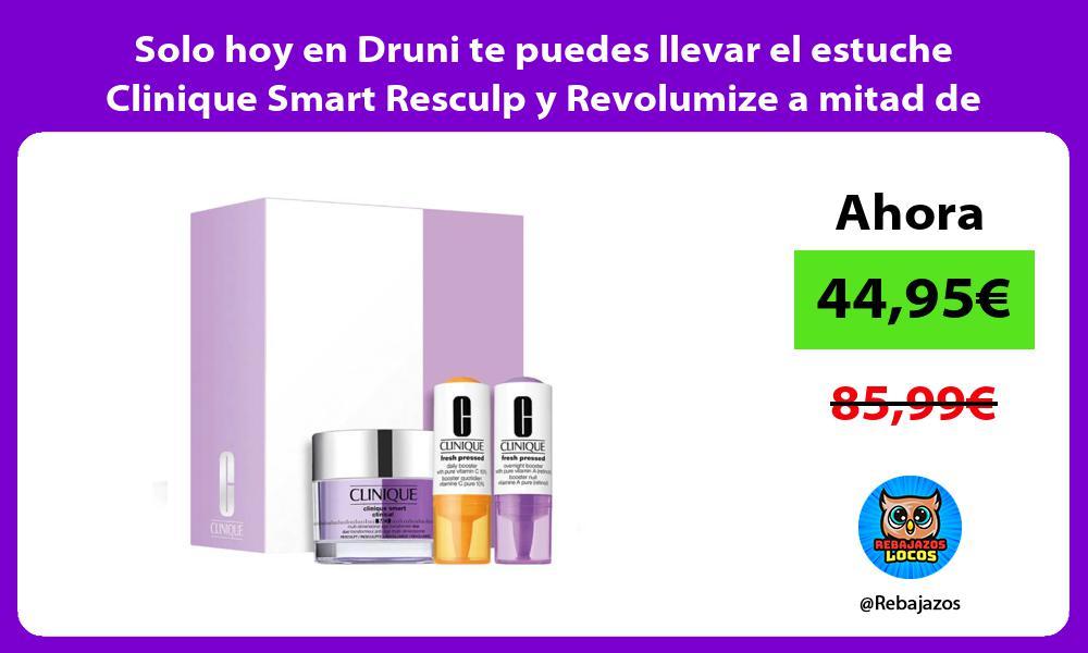 Solo hoy en Druni te puedes llevar el estuche Clinique Smart Resculp y Revolumize a mitad de precio