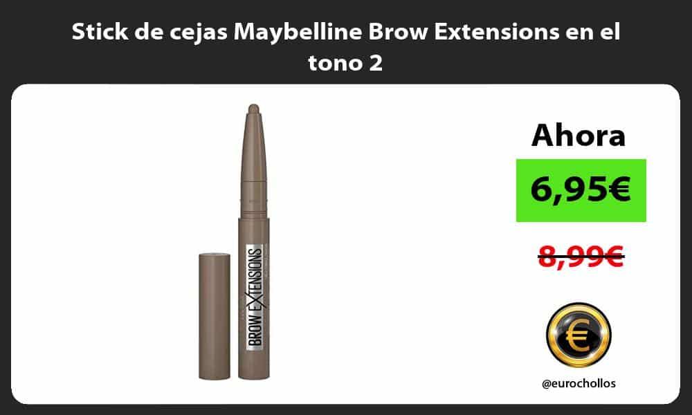 Stick de cejas Maybelline Brow Extensions en el tono 2