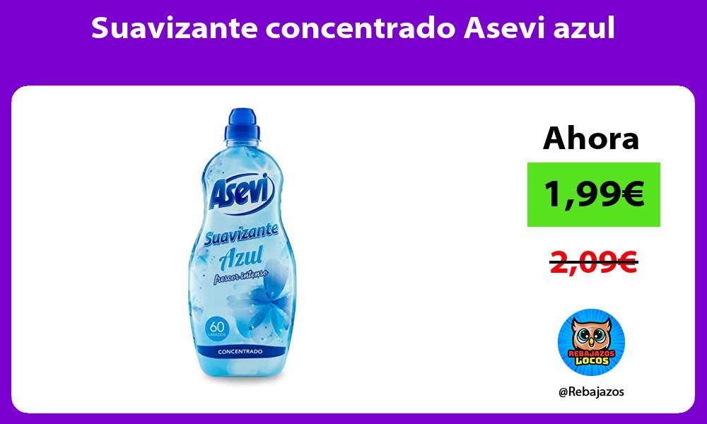 Suavizante concentrado Asevi azul