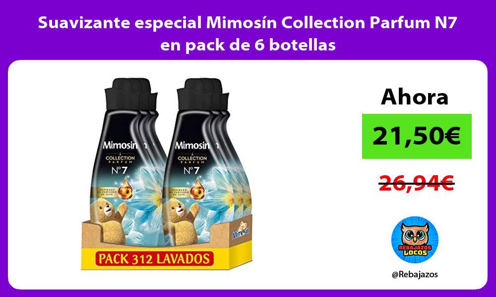 Suavizante especial Mimosin Collection Parfum N7 en pack de 6 botellas