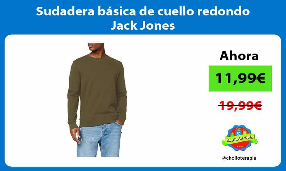 Sudadera basica de cuello redondo Jack Jones