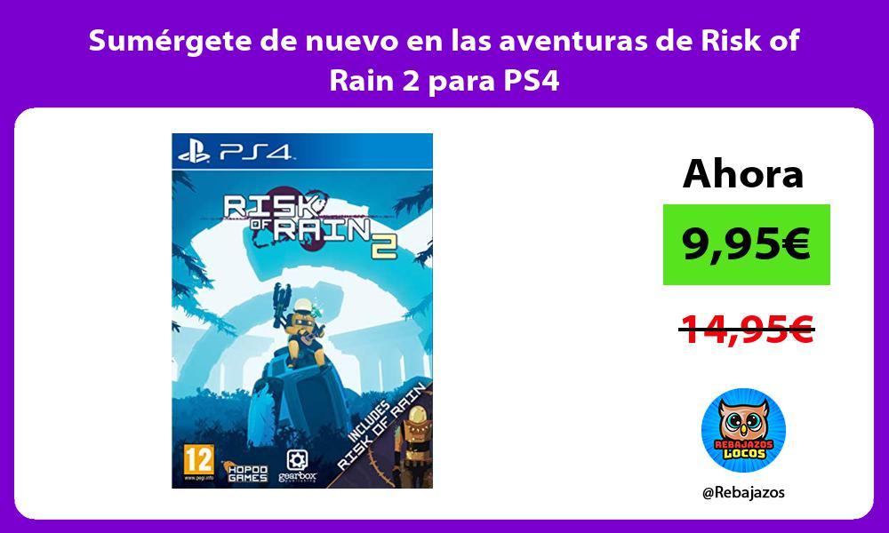 Sumergete de nuevo en las aventuras de Risk of Rain 2 para PS4