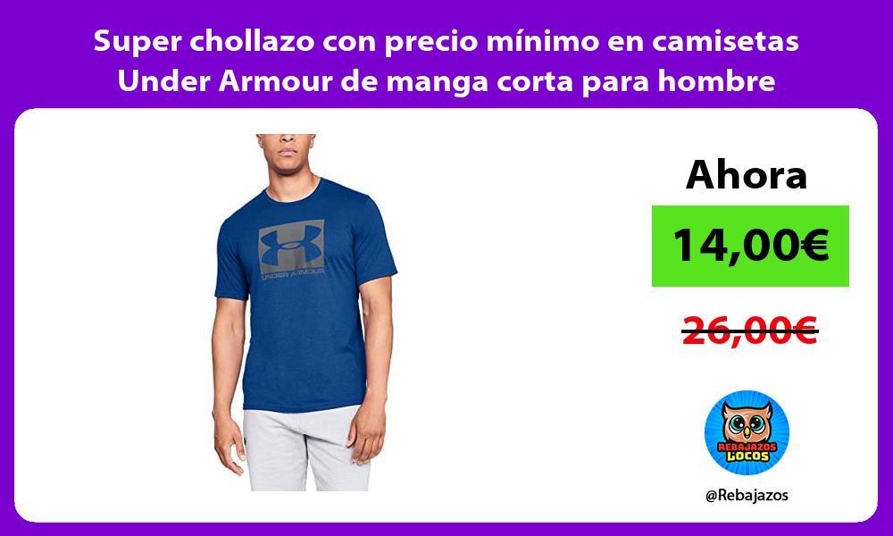 Super chollazo con precio minimo en camisetas Under Armour de manga corta para hombre