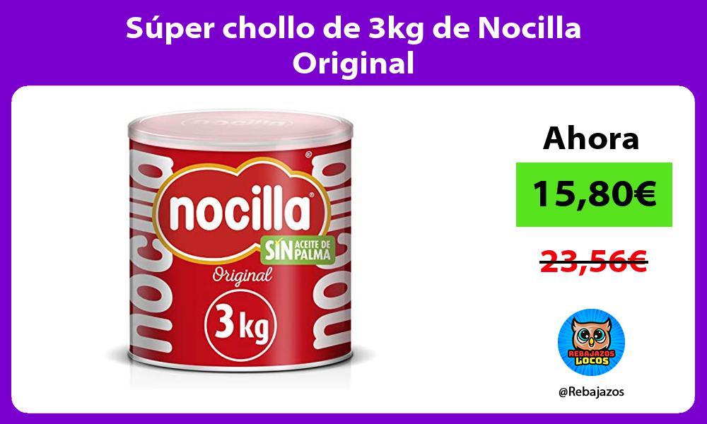 Super chollo de 3kg de Nocilla Original