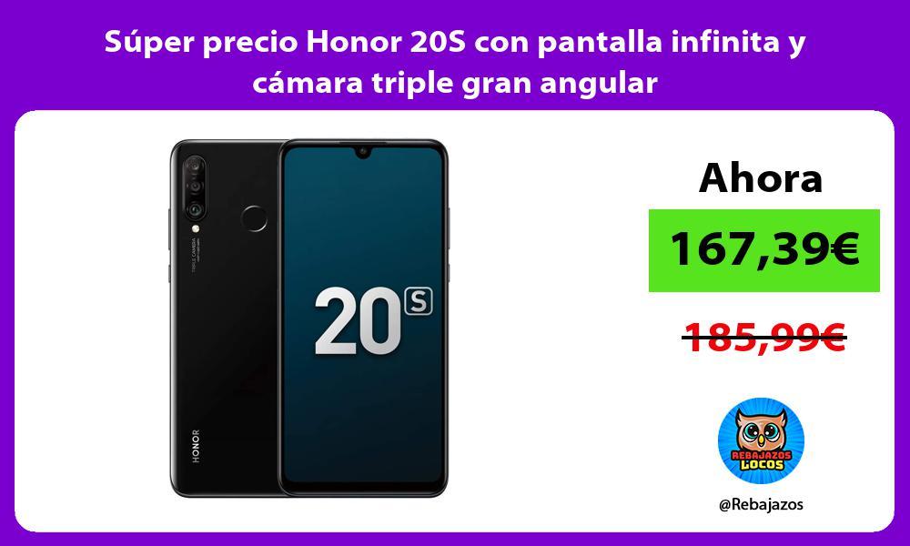 Super precio Honor 20S con pantalla infinita y camara triple gran angular