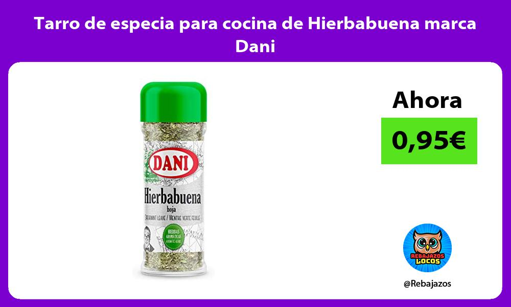 Tarro de especia para cocina de Hierbabuena marca Dani