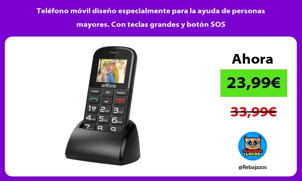 Telefono movil diseno especialmente para la ayuda de personas mayores Con teclas grandes y boton SOS