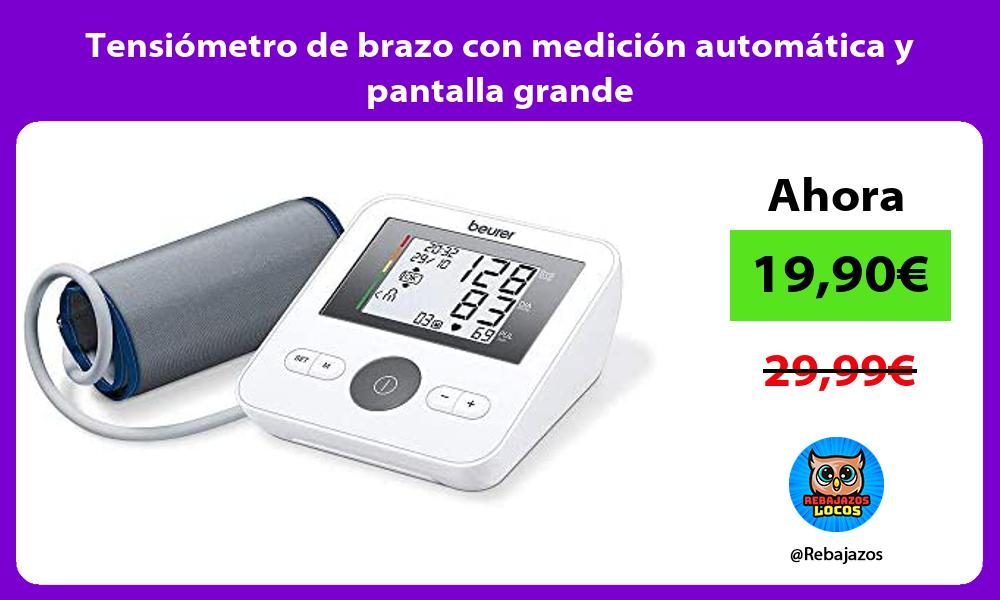 Tensiometro de brazo con medicion automatica y pantalla grande