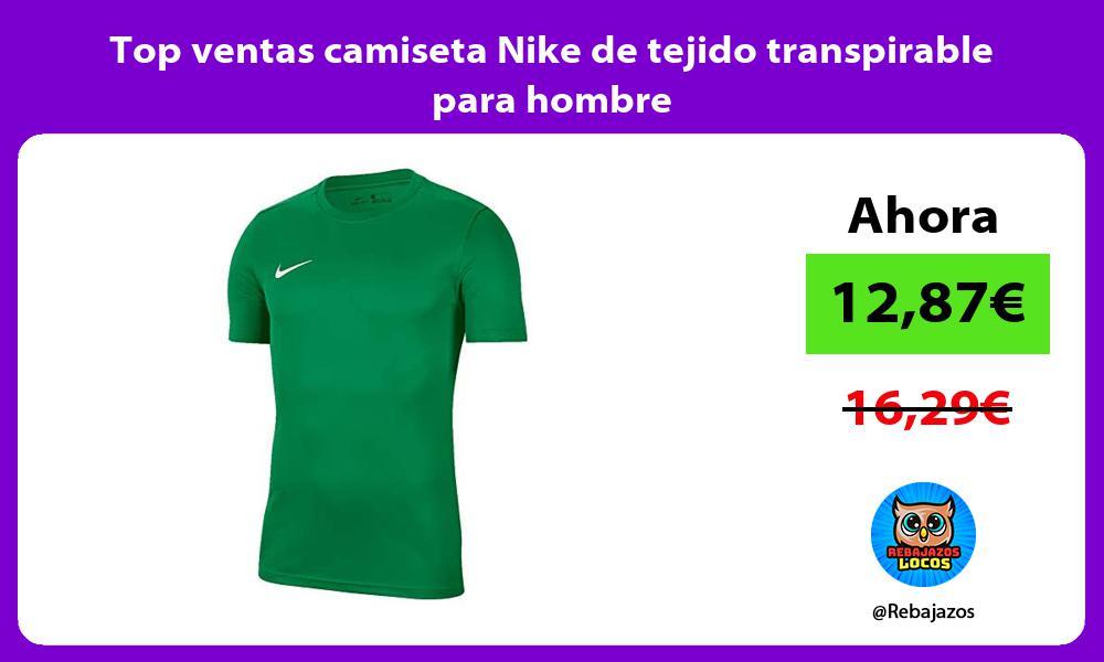 Top ventas camiseta Nike de tejido transpirable para hombre