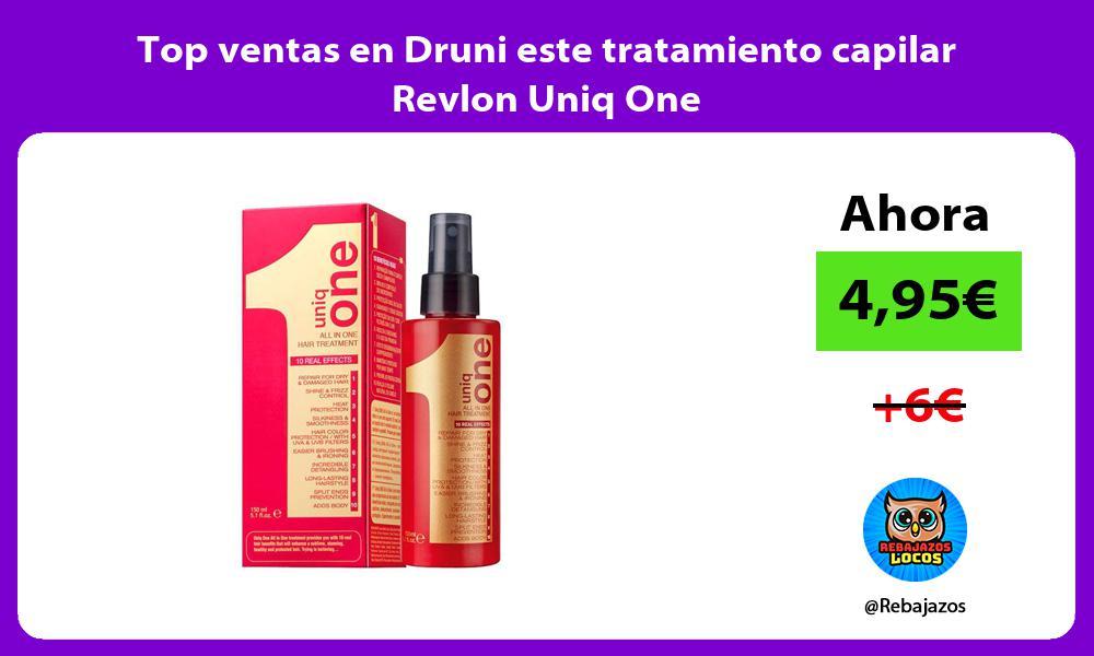 Top ventas en Druni este tratamiento capilar Revlon Uniq One