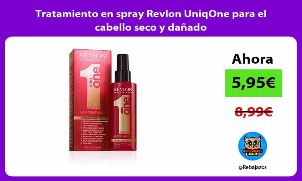 Tratamiento en spray Revlon UniqOne para el cabello seco y danado