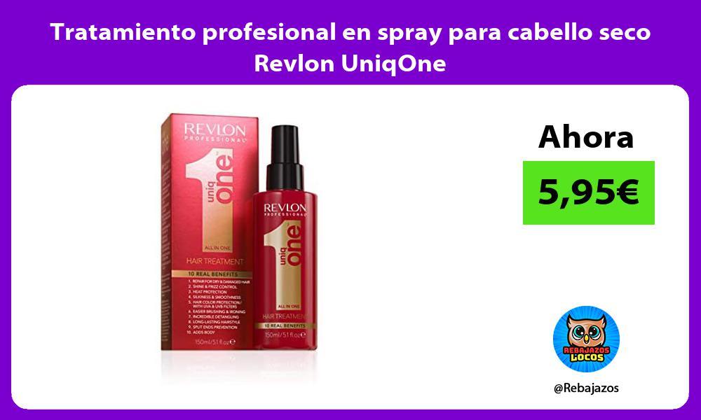 Tratamiento profesional en spray para cabello seco Revlon UniqOne