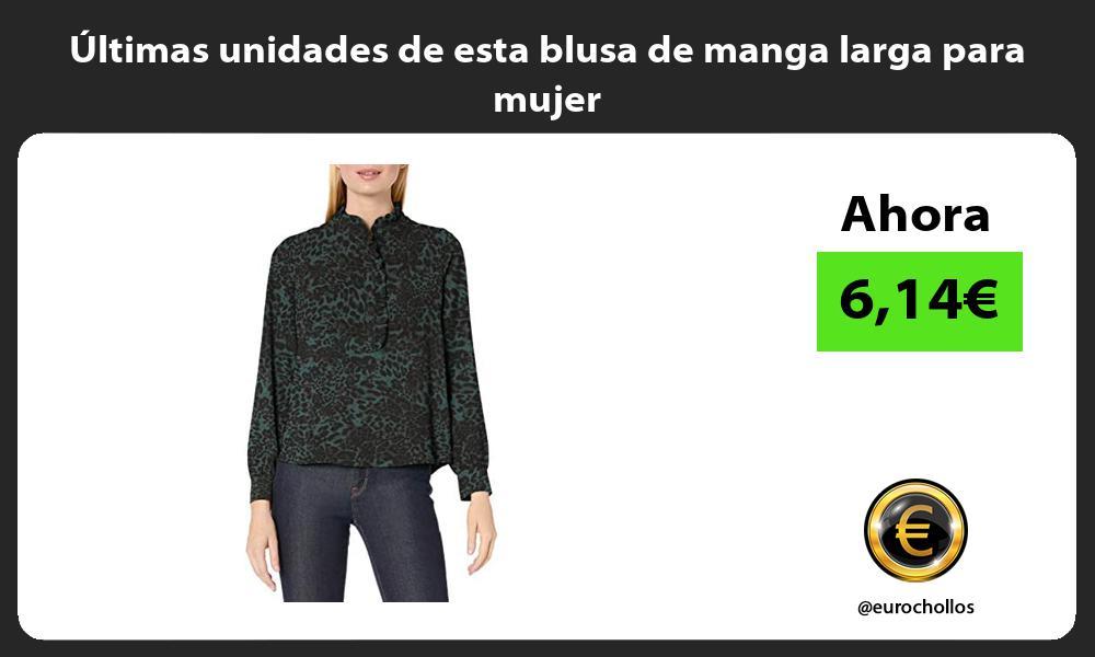 Ultimas unidades de esta blusa de manga larga para mujer