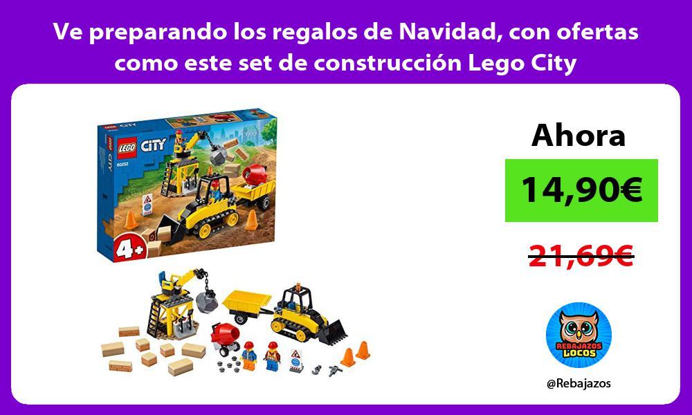 Ve preparando los regalos de Navidad con ofertas como este set de construccion Lego City
