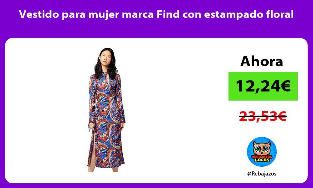 Vestido para mujer marca Find con estampado floral