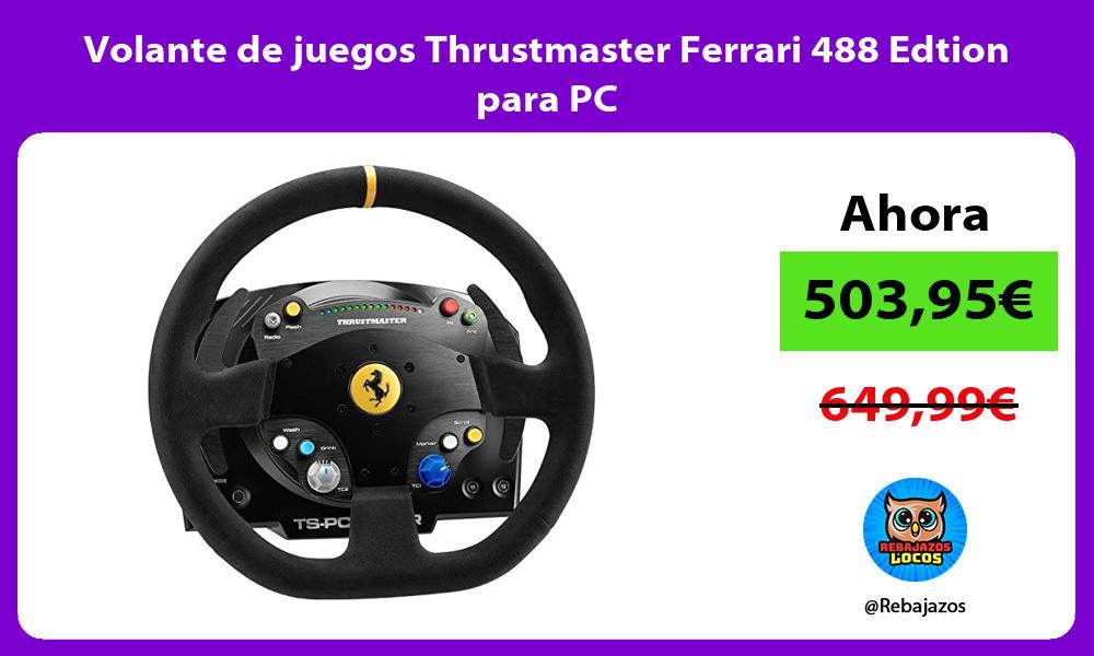 Volante de juegos Thrustmaster Ferrari 488 Edtion para PC