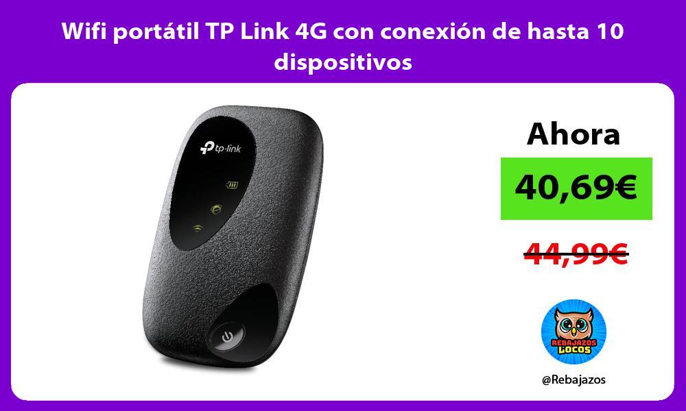 Wifi portatil TP Link 4G con conexion de hasta 10 dispositivos