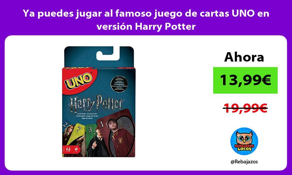 Ya puedes jugar al famoso juego de cartas UNO en version Harry Potter