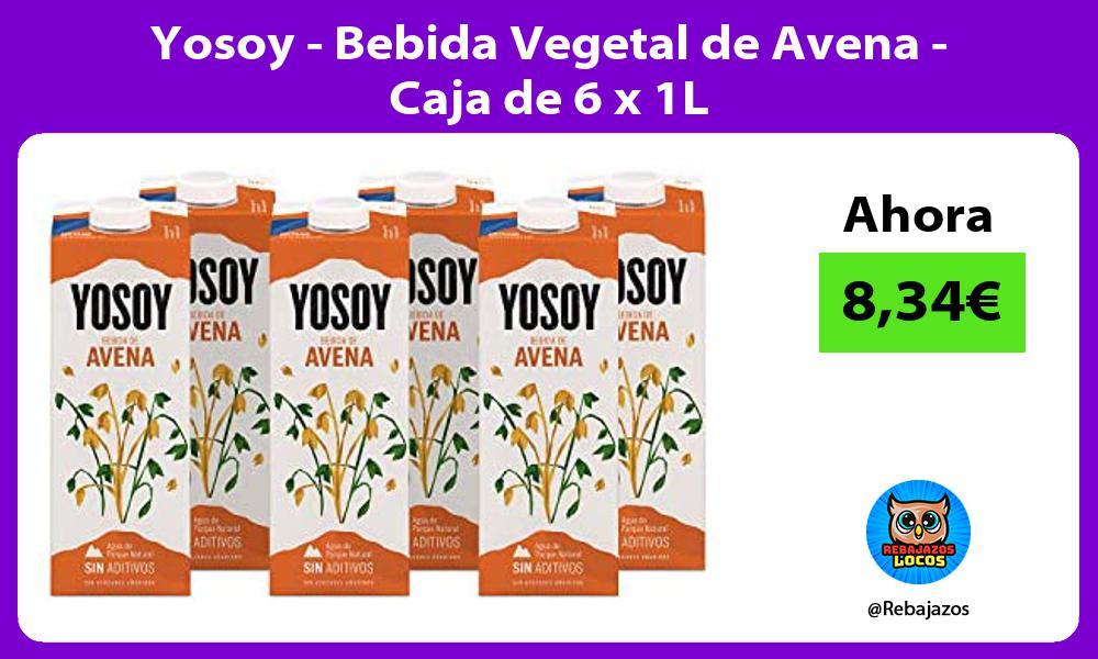 Yosoy Bebida Vegetal de Avena Caja de 6 x 1L