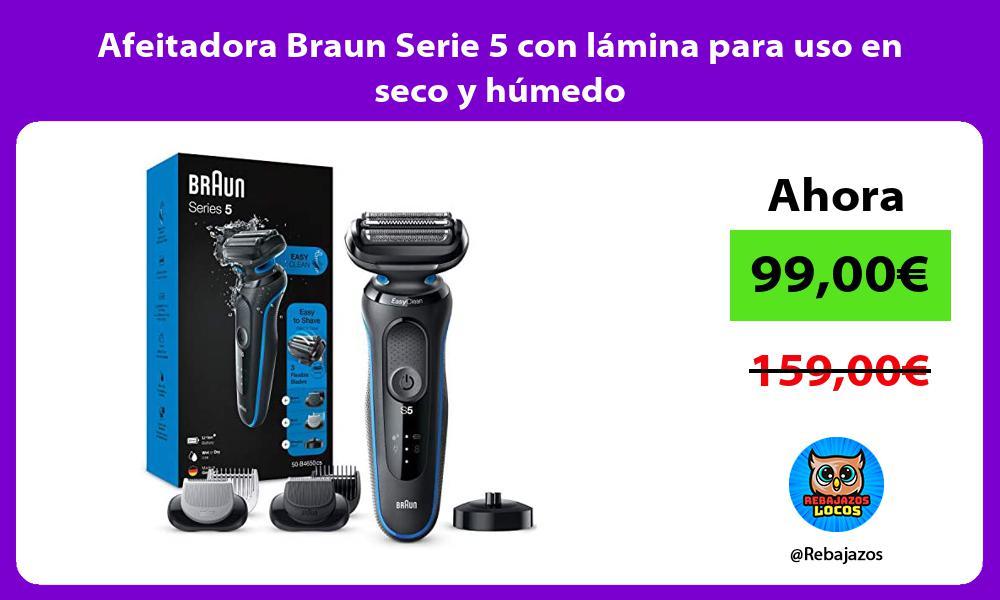 Afeitadora Braun Serie 5 con lamina para uso en seco y humedo